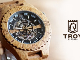 Troy Handcrafted Wood Watch with Visible Skeleton (KS)