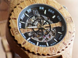 Troy: Handcrafted Wood Watch with Visible Skeleton (IGG)