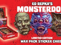 Ed Repka's MONSTERDOM Wax Pack Sticker Trading Card Set