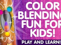 Chameleon Color Blending Fun For Kids!