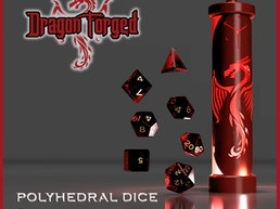 Dragon Forged Polyhedral Dice and LED Dice Vault