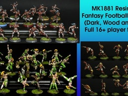 Resin 32mm MK1881 Elf Fantasy Football teams (Pro/Dark/Wood)