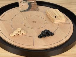 Crokinole 2018 Beech Hardwood 2-4 Player Dexterity Game