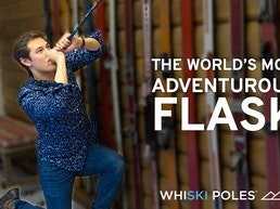 WhiSki Poles = Ski Pole Flask