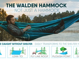 Walden Hammocks: 3-in-1 Hammock, Shelter, Camping Blanket