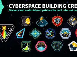 Cyberspace Building Crew Patches & Stickers