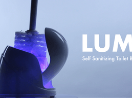 LUMI - Self-Sanitizing Toilet Brush and Base
