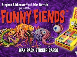 THE FUNNY FIENDS Wax Pack Sticker Cards