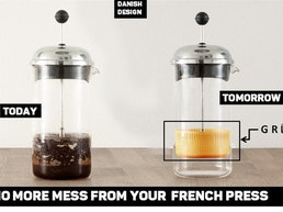 GRUMS - The french press coffee grounds collector