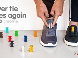 ZUBITS magnetic lacing - Metallics - Never tie laces again!