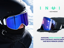 MessyWeekend INUIT Photochromic & High Contrast Snow Goggles