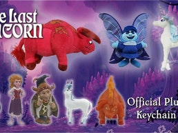 The Last Unicorn - Official Plush Characters & Keychain Set
