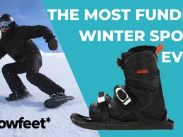 Snowfeet II: Shoe Attachments That Turn Shoes Into Mini Skis