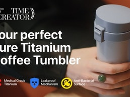 Toki – Eco-Friendly Pure Titanium Tumbler for Coffee Lovers