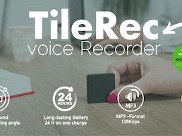 TileRec - World's Slimmest Voice-Activated Recorder