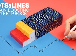 Dots & Lines - a Brain Boosting Puzzle Flip Book
