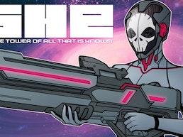 SHE Vol. 1 - Sci-fi Graphic Novella | Die-Cut Hardcover