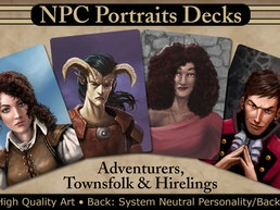 NPC Portraits Decks: Adventurers, Townsfolk, and Hirelings