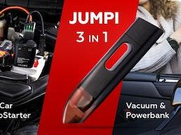 Jumpi 3 in 1 Car Jumpstarter, Vacuum & Powerbank
