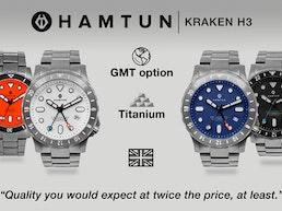 Hamtun Kraken H3. A titanium watch for everyone, every day.