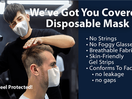 We've Got You Covered! No Strings Attached Disposable Mask