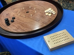 Mayday 2020 Crokinole Board 2-4 Player: Maple or Rosewood!