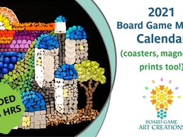 2021 Board Game Mosaic Calendar