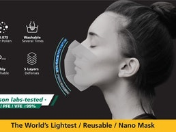 The World's Lightest, Reusable, Nano Mask