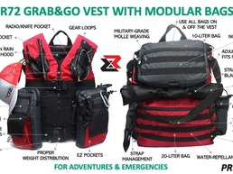 R72 Grab&Go Vest | Modular Adventure & Emergency Bags