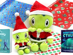 C is for Cthulhu Xmas: Santa Plush, Wrapping Paper + Books