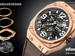 Infantry modular watches with interchangeable components