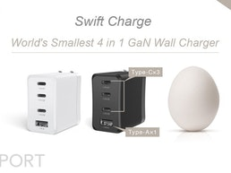 Swift Charge: World's Smallest 4 in 1 GaN Wall Charger