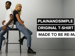 PLAINANDSIMPLE ORIGINAL T-SHIRT - MADE TO BE RE-MADE