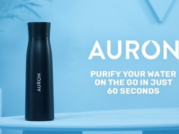 Auron - Self-Cleaning Water Purifying UV-C Smart Bottle